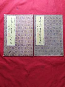 (王义之行书章法习字帖)和(王义之行书结构习字帖)两本合售   16开