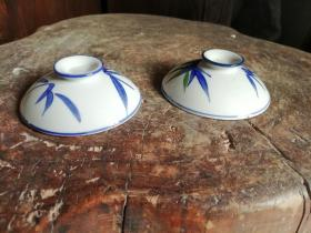釉中彩碗碟盖,两个任选一个