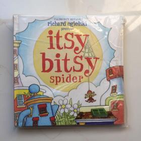 英文原版 Itsy Bitsy Spider POP-UP 立体书 拉页式玩具书 小小蜘蛛 幼儿启蒙观察想象力训练 童话故事绘本趣味英语阅读机关图画书