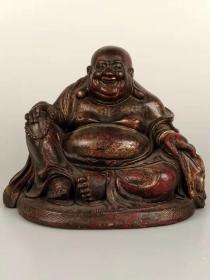 漆金【弥勒佛】,佛相自若、坦荡自然,全品完整,品相尺寸如图!
