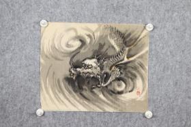 回流字画 回流书画 《云龙》图 佚名;日本回流字画 日本回流书画