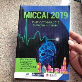 MICCAI 2019 13-17 OCTOBER 2019 SHENZHEN ,CHINA SHENZHEN