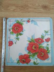 手帕花样设计原稿(吕学典绘)大菖花