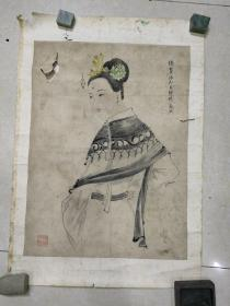 清未仕女画(画心48.5 x36 )