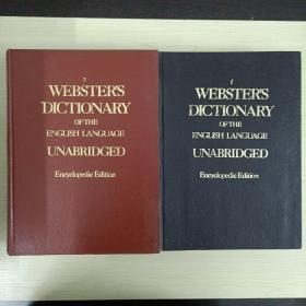 WEBSTER'S DICTIONARY韦氏英语大词典1.2共2册 精装大16开,原版影印