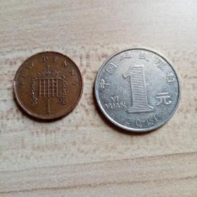 外国钱币 英国1978年硬币(面值1)(YB5)