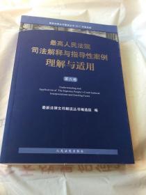 最高人民法院司法解释与指导性案例理解与适用(第六卷)