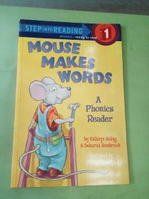 STEPINTOREADING  1  MOUSE  MAKES  WORDS  A  Phonics  Reader(英文原版)