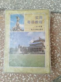 实用粤语教程(盒装1书2磁带)  没有设备没法检测磁带  外盒旧,内页完好
