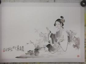 尹建华 可合影仕女图
