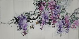 四尺紫藤 横幅  黄艺老师的作品 紫气东来