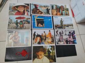 (2008年)SAN of I avent is寄往世界贫困疾病地区的新年贺卡:北越、塞内加尔、南非、柬埔寨、洪都拉斯、贝宁、巴西、南印度、安达曼、埃及。一共10枚合售。(每枚有封函)