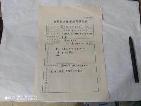 1989年. 台胞回乡探亲情况报告表