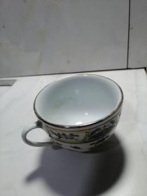 中国景德镇镶嵌掐丝茶杯