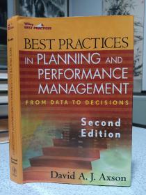 2007年,英文原版,精装带书衣,最佳实践,Best Practices In Planning And Management Reporting