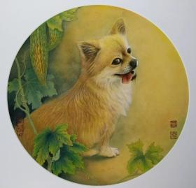 陈松岩,可合影,小品 花鸟 牡丹 母鸡 鸭子 狐狸 白菜