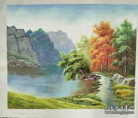 风景油画原作