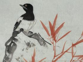 龚文桢  尺寸  82/46  软件  著名国画家,当代工笔花鸟画领军人物,1945年生于北京,自幼研习中国传统工笔花鸟画,尤为注重写生,追求严谨大方、清丽典雅的艺术风格。师承著名画家田世光,李苦禅等,1981毕业于中央美术学院研究生班,后任教于中央工艺美术学院,现为中国国家画院一级画家,享受国务院特殊贡献专家津贴。文化部高级职称评委,北京画院高级职称评委,中国工笔画展评委。