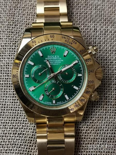 机械名表 劳力士腕表 男士迪通拿系列 绿色表盘 精钢镀金表带 全自动机械机芯 时尚精美 走时精准