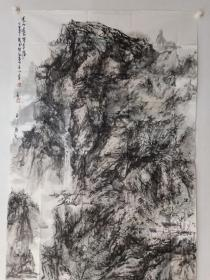保真书画,杨立军《近水远山俱有情》六尺整纸山水画一幅179×97cm。杨立军,北京市人。中国美术家协会会员,国家一级美术师,北京美术家协会会员,中国老挝人民友好使者,艺术在场艺术家联合会主席,玲珑美术博物馆名誉馆长,北京原创书画院执行院长,燕赵画院副院长,北京凤凰岭助教班姜宝林先生助教。