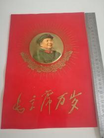 毛主席万岁塑料宣传画