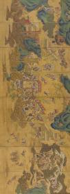 瑶池群仙聚会八条屏(佚名 )。通景屏。最大可做150*410.69厘米(原图187.49*513.34厘米)。宣纸艺术微喷复制