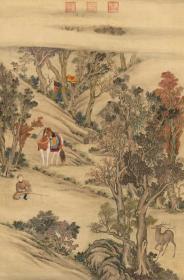 乾隆弘历击鹿图像轴(清 佚名)。最大可做150*227.16厘米(原图171.66*259.96厘米)。宣纸艺术微喷复制。