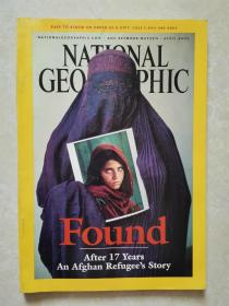 NATIONAL GEOGRAPHIC APRIL 2002 美国国家地理 2002年第4期 found after 17 years an Afghan refugee's story