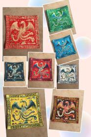 手工刺绣 补子 装饰佳品 尺寸:26×26cm,35元一块不包邮