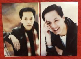 著名男演员 冯远征 老照片二枚附底片2张