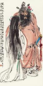 黄胄-钟馗嫁妹。纸本大小68.85*137.8厘米。宣纸艺术微喷复制。
