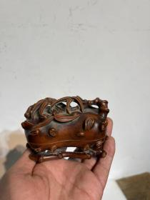 黄杨木文房印泥盒  雕工精美 皮克温润尺寸10/6/6.5cm