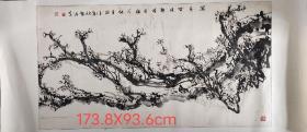 山东著名画家杨智强先生手绘墨梅作品