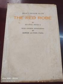 民国25年英文初版,欧美名剧选《大红袍》全一册