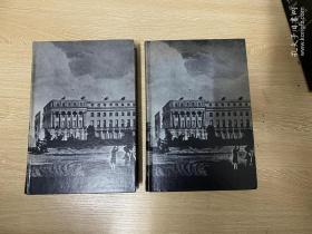 The Letters of Robert Browning and  Elizabeth Barrett Barrett 1845-1846  布朗寧和布朗寧夫人情書集,2卷全,有插圖,布面精裝, 重約3公斤,1969年老版書