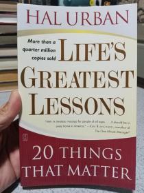 2003年,英文原版,平装版本,20个人生重大教训,life's greatest lessons,20 things that matter