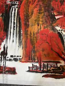 《万山红遍》李可染再传弟子李刚大师国画精品 27平尺大作