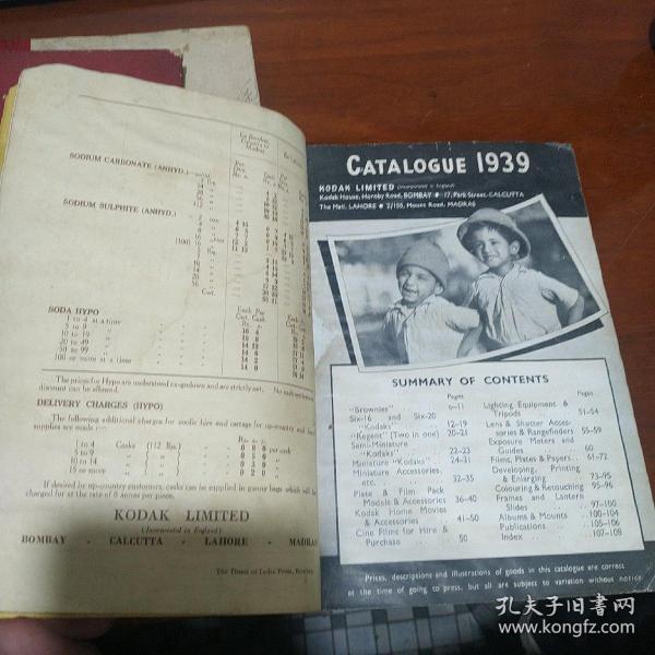 柯达相机说明书      目录    1939年