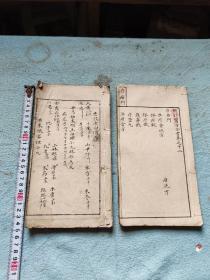 手抄本医书两本,都是药方,书法漂亮