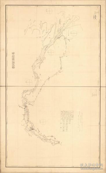 古地图1882 江苏长江海图。纸本大小138.63*84.62厘米。宣纸艺术微喷复制。320元包邮