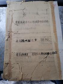 零陵税务文献     1950年税务局年终鉴定材料  有折痕有虫蛀孔洞   同一来源有装订孔