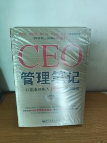 CEO管理笔记:—一位职业经理人18年的职场感悟