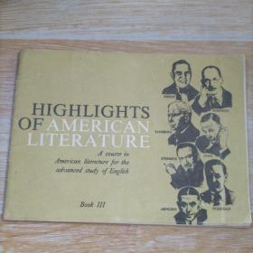 HIGHLGHTS OF AMERICAN LITERATURE Book Ⅲ