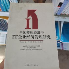 中国转轨经济中IT企业经济管理研究