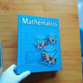 Houghtom Mifflin Mathematics  大16开 精装  厚册【前几页有少量水渍  看图】