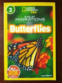 National Geographic Readers: Great Migrations Butterflies 【正版全新】