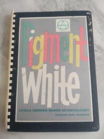 民国纺织品印染样本pigment white 白色染料