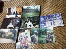 李约瑟照片(中国科学家拜访李约瑟教授及住处)9张五寸照片