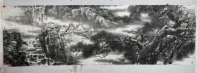 张镛   尺寸 300/96  软件 1962年生于山东曹县,先后毕业于无锡轻工学院艺术系、中国艺术研究院研究生院。中国美术家协会会员。现就职于国家民族画院学术委员会任副秘书长,中国画专业画家,现居北京。