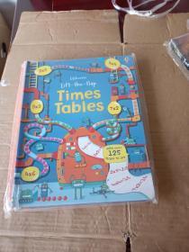 Lift the Flap Times Tables Book (Usborne Lift-the-Flap-Books)  优斯伯恩翻翻书:乘法表 英文原版  未拆封